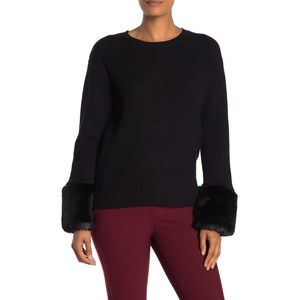 Love Token Awesome Faux Fur Cuffed Sweater